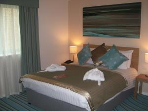 The Bedrooms at Cotswold Water Park Four Pillars Apartments