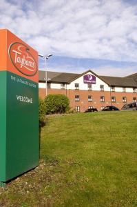 The Bedrooms at Premier Inn Newcastle Under Lyme