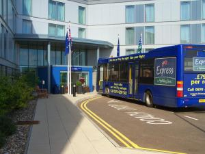 The Bedrooms at Holiday Inn Express Stansted
