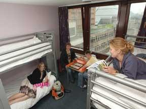 The Bedrooms at Euro Hostel Glasgow